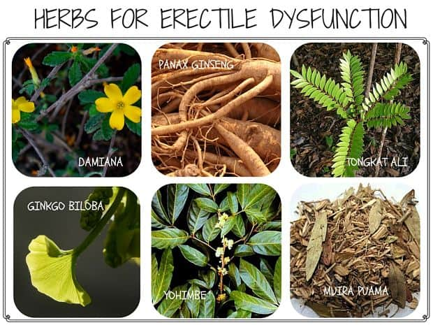 Herbal tablets for erectile dysfunction