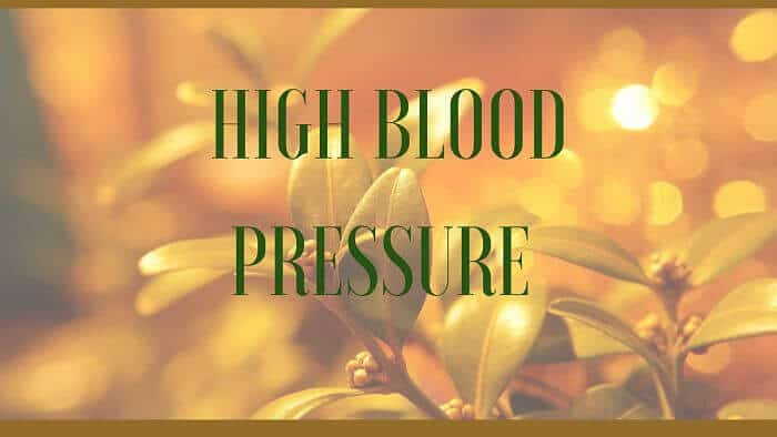 high blood pressure remedies